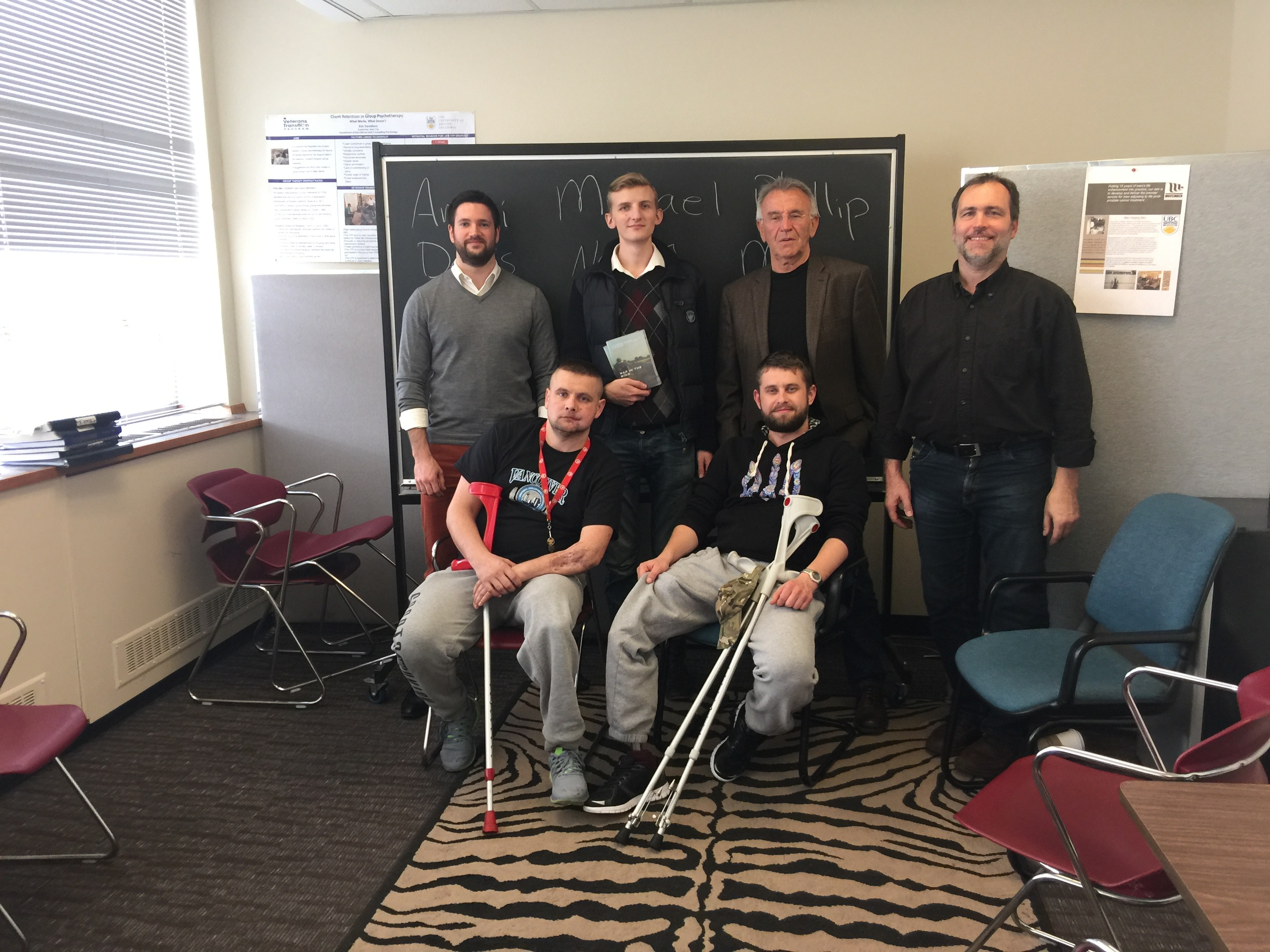 Ukrainian soldiers visit the CGCT to learn about the Veterans Transition Program